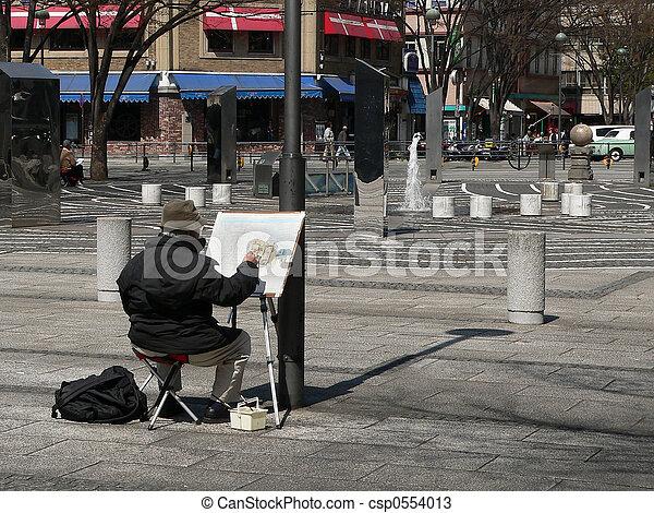 La escena de la ciudad - csp0554013