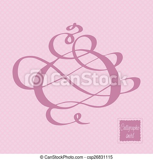 Calligraphic design element. Vector illustration. - csp26831115
