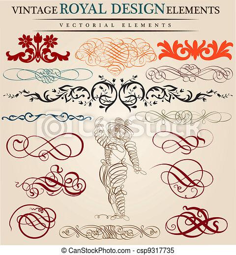 Kalligrafische Elemente - csp9317735