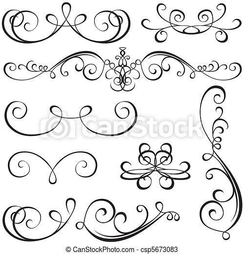 calligraphic, elementi - csp5673083