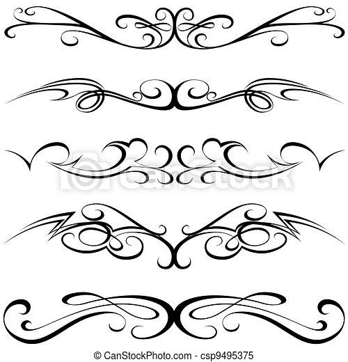calligraphic, tetovál - csp9495375