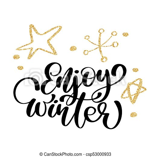 calligraphy enjoy winter merry christmas card with template rh canstockphoto com clipart housewarming party housewarming clipart images