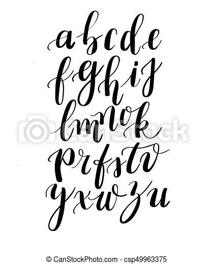 Calligraphy hand-written fonts. handwritten brush style modern ...