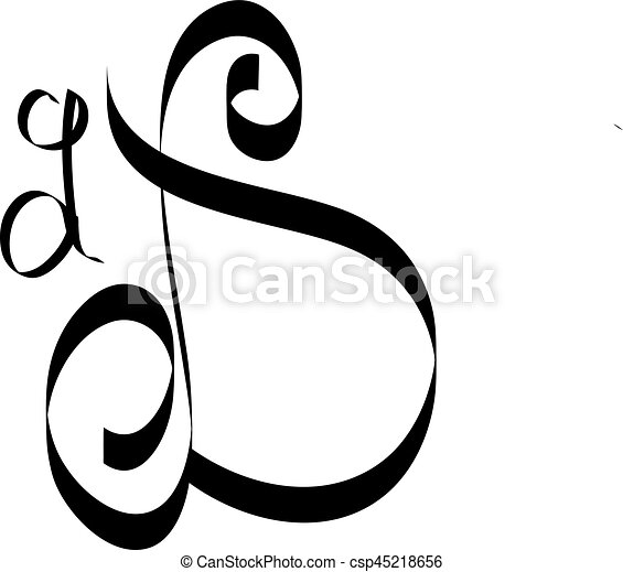 Calligraphy Letter D New Font By Kamal