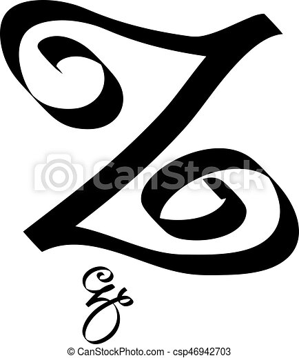 Letter Z Pictures.Calligraphy Letter Z