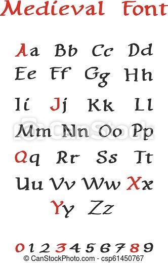 calligraphy lettering medieval font