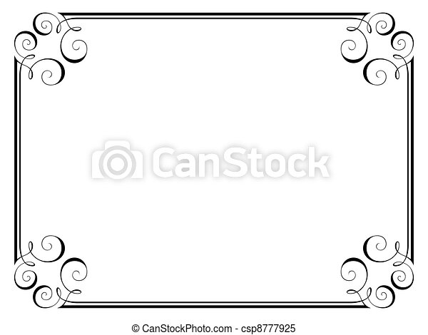 calligraphy ornamental decorative frame - csp8777925
