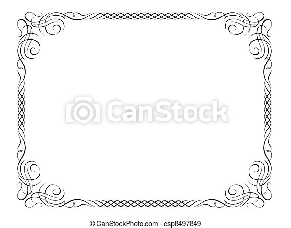 calligraphy ornamental decorative frame - csp8497849