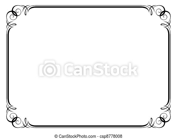 calligraphy ornamental decorative frame - csp8778008