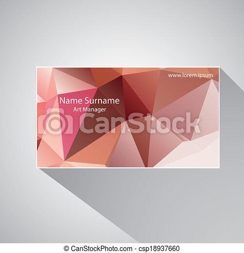 Calling card of art manager. - csp18937660
