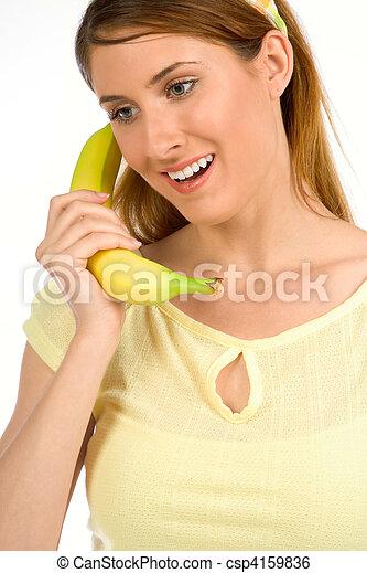 Calling healthy eating adviser - csp4159836