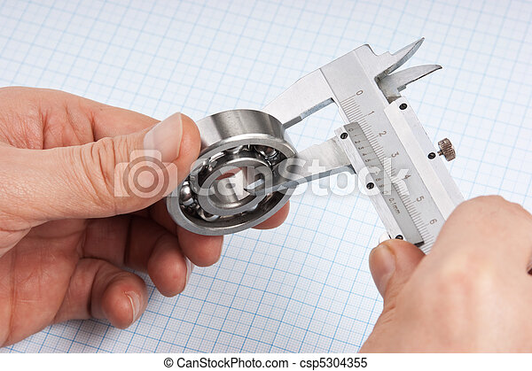 callipers with bearing in hand - csp5304355
