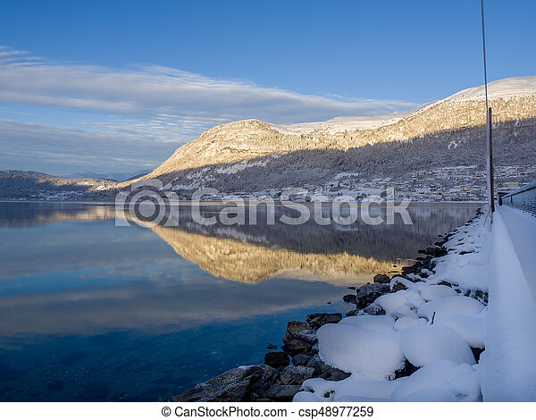 calm fjord in Norway - csp48977259