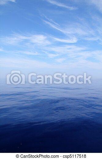 Calm sea blue water ocean sky horizon scenics  - csp5117518