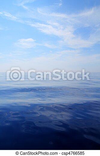 Calm sea blue water ocean sky horizon scenics  - csp4766585