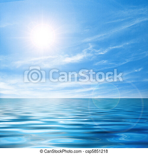 Calm seascape - csp5851218