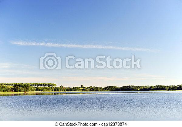 calm water of  lake - csp12373874
