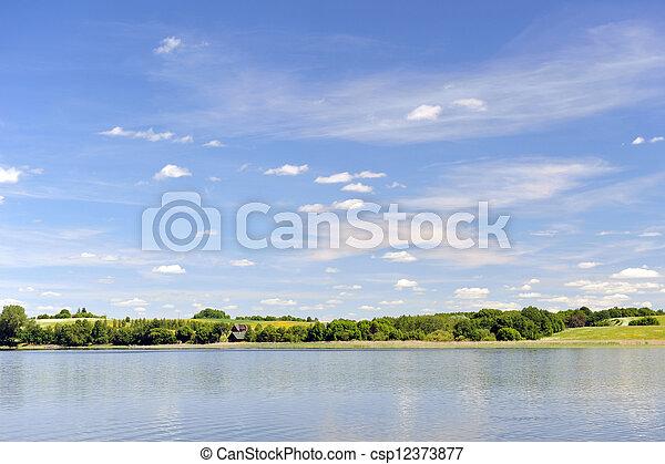 calm water of  lake - csp12373877