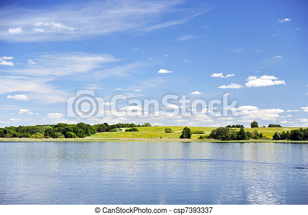calm water of  lake - csp7393337