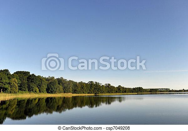 calm water of  lake - csp7049208