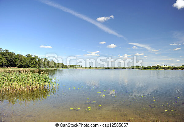 calm water of  lake - csp12585057