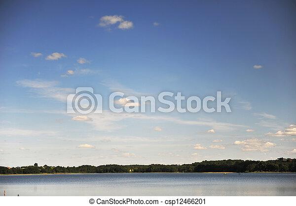 calm water of  lake - csp12466201