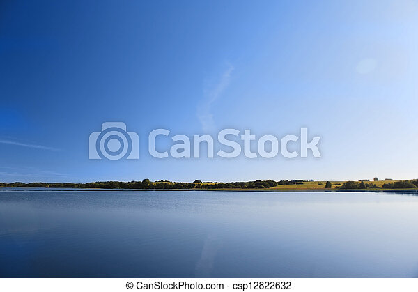 calm water of  lake - csp12822632