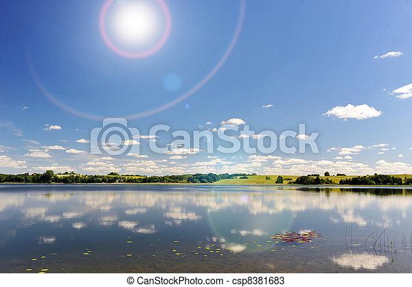 calm water of  lake - csp8381683
