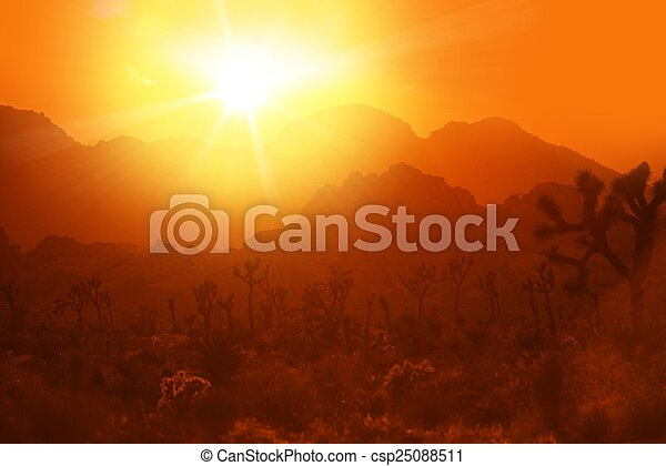 calore, california, deserto - csp25088511