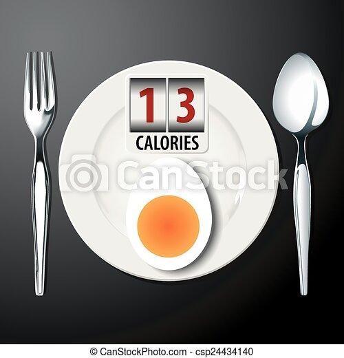 Calories in Egg boil - csp24434140