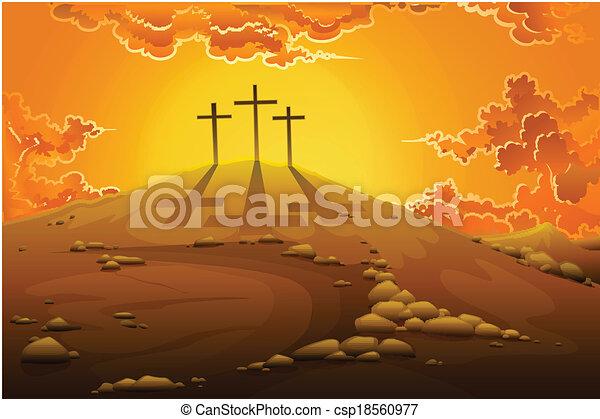 Calvary Crucifixion - csp18560977
