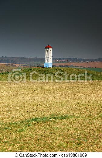 Calvary in meadow - csp13861009