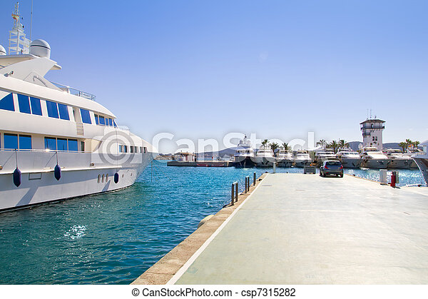 Calvia Puerto Portals Nous luxury yachts in Majorca - csp7315282