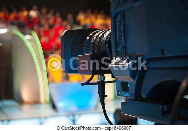 caméra télévision, studio - csp18496907