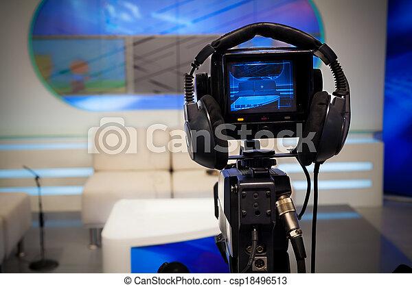 caméra télévision, studio - csp18496513