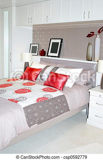cama matrimonial - csp0592779