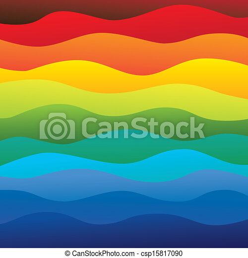 camadas, arco íris, coloridos, &, este, vibrante, abstratos, contém, -, espectro, ilustração, água oceano, cores, vetorial, liso, fundo, ondas, (backdrop), graphic. - csp15817090