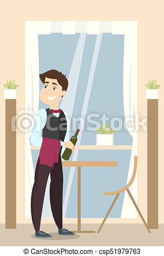 Camarero en el restaurante. - csp51979763