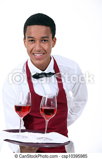 camarero, vino - csp10395985