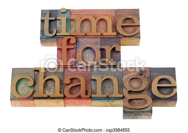 Hora del cambio - csp3984855