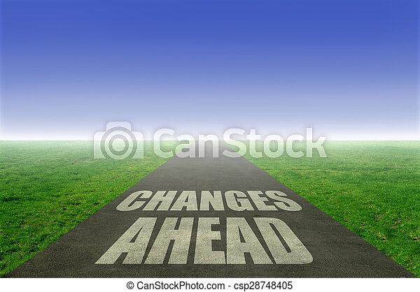 Cambios por delante - csp28748405