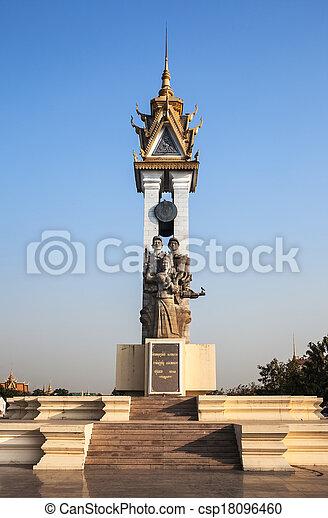 Cambodia Vietnam Friendship Monument, Phnom Penh, Cambodia. - csp18096460