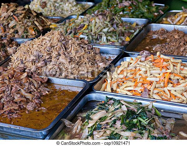 Cambodian food at a market - csp10921471