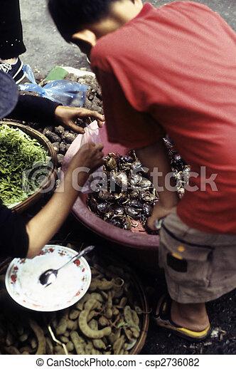 Cambodian market- Phnom Penh, Cambodia - csp2736082