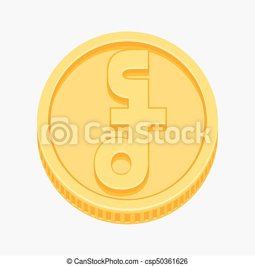 Cambodian Riel Symbol On Gold Coin Cambodian Riel Currency Symbol