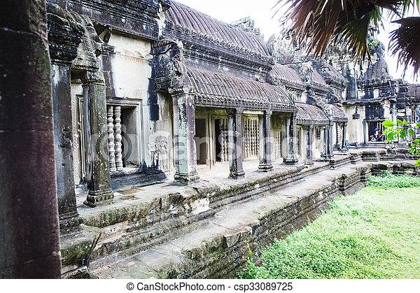 Cambodian temple ruins - csp33089725