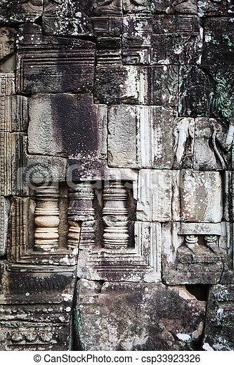 Cambodian temple ruins - csp33923326