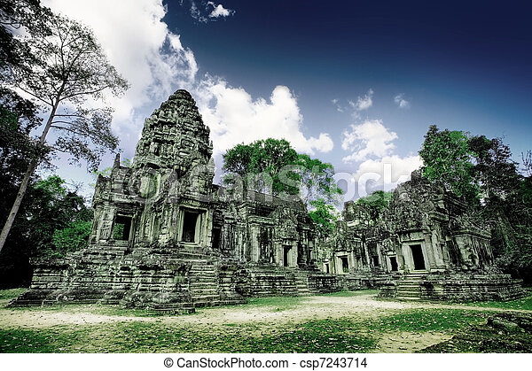 Cambodian temple ruins - csp7243714