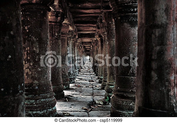 Cambodian temple ruins - csp5119999