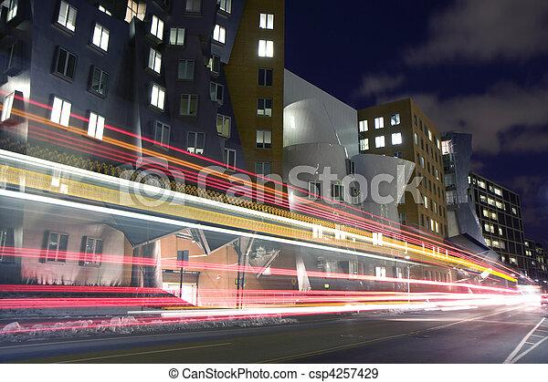 Cambridge street with bus passing - csp4257429